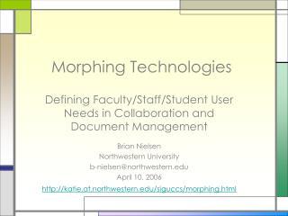 Morphing Technologies