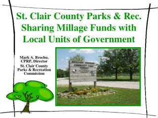St. Clair County Parks & Rec. Sharing Millage Funds with Local Units of Government