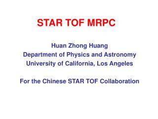 STAR TOF MRPC
