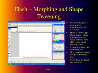 Flash – Morphing and Shape Tweening