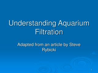 Understanding Aquarium Filtration