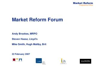 Market Reform Forum