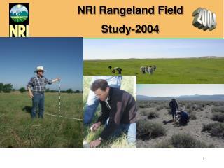 NRI Rangeland Field Study-2004