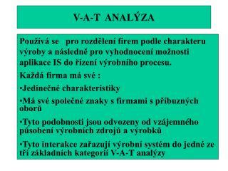 V-A-T  ANALÝZA