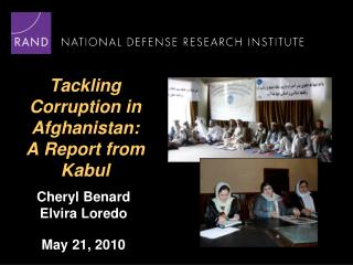 Tackling Corruption in Afghanistan: A Report from Kabul
