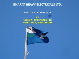 BHARAT HEAVY ELECTRICALS LTD. BHEL Day  Celebration AT