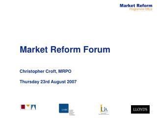 Market Reform Forum
