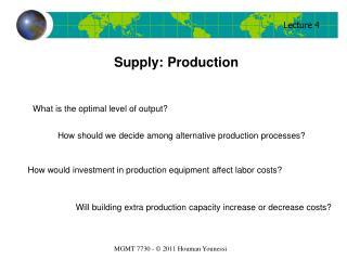 Supply: Production
