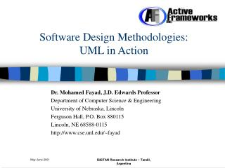 Software Design Methodologies:  UML in Action