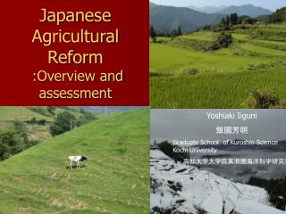Japanese Agricultural Reform  :Overview and assessment