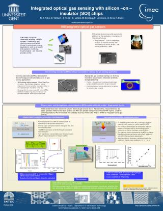 Integrated optical gas sensing with silicon –on –insulator (SOI) chips