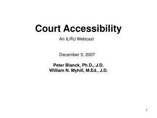 Court Accessibility