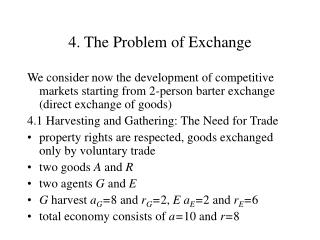 4. The Problem of Exchange