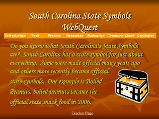South Carolina State Symbols WebQuest