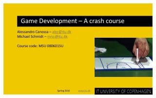 Game Development – A crash course