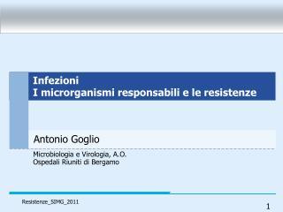 Microbiologia e Virologia, A.O.  Ospedali Riuniti di Bergamo