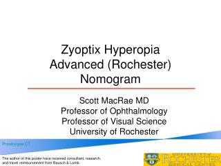 Zyoptix Hyperopia  Advanced (Rochester) Nomogram