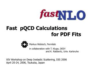 Fast  pQCD Calculations                               for PDF Fits