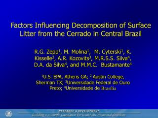 Factors Influencing Decomposition of Surface Litter from the Cerrado in Central Brazil