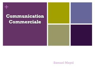 Communication Commerciale