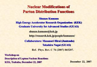 Nuclear Modifications of Parton Distribution Functions