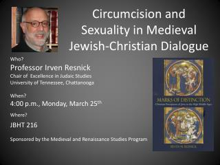 Circumcision  and Sexuality  in Medieval  Jewish-Christian  Dialogue