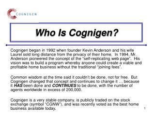 Who Is Cognigen?