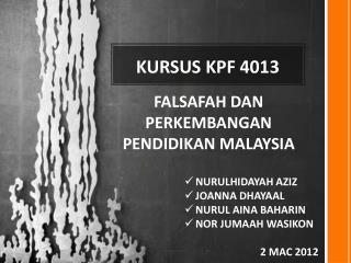 KURSUS KPF 4013