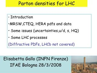 Parton densities for LHC