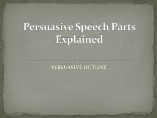 Persuasive Speech Parts Explained