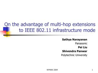 On the advantage of multi-hop extensions to IEEE 802.11 infrastructure mode
