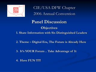 CIE/USA DFW Chapter               2006 Annual Convention