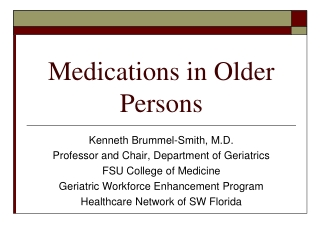 Understanding Antipsychotic Medications and New Issues in Medications for Old Illnesses