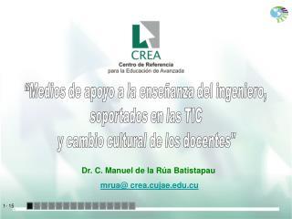 Dr. C. Manuel de la Rúa Batistapau mrua@ crea.cujae.cu