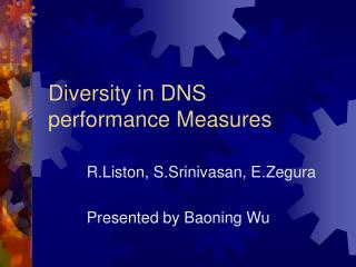 Diversity in DNS  performance Measures