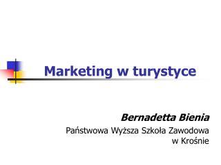 Marketing w turystyce