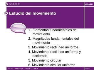 Estudio del movimiento