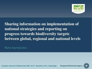 European network of Biodiversity CHMs  20-21  November 2013,  Copenhagen