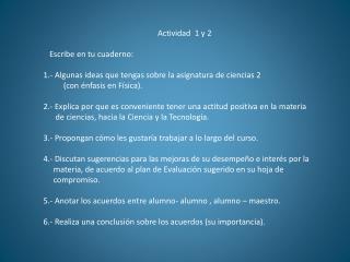 Actividad  1 y 2