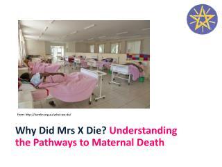 Why Did Mrs X Die? Understanding the Pathways to Maternal Death