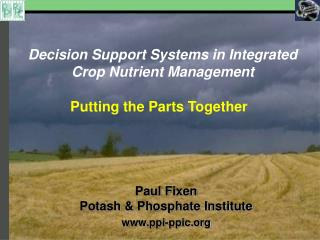 Decision Support Systems in Integrated Crop Nutrient Management