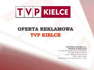 OFERTA REKLAMOWA TVP KIELCE