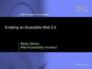 Enabling an Accessible Web 2.0
