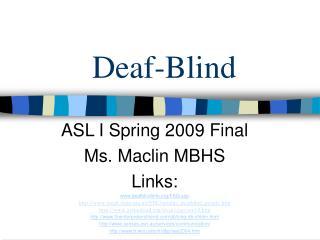 Deaf-Blind