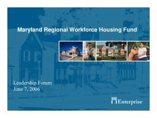 Maryland Regional Workforce Housing Fund
