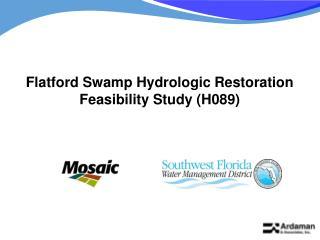 Flatford Swamp Hydrologic Restoration Feasibility Study (H089)