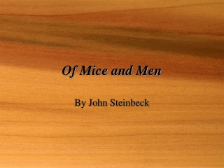 Of Mice and Men: An Introduction