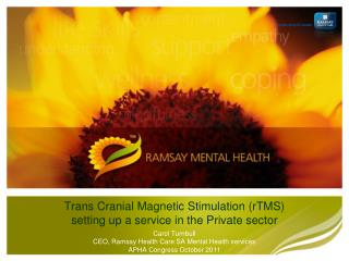 Trans Cranial Magnetic Stimulation (rTMS) setting up a service in the Private sector