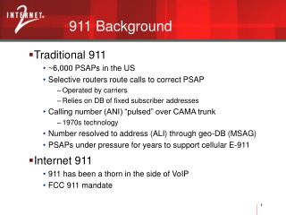 911 Background