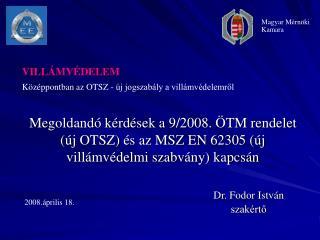 Dr. Fodor Istv�n szak�rt?